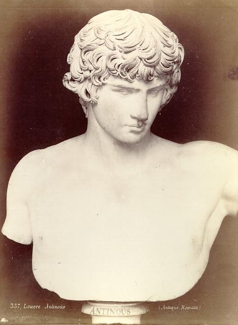 Vintage photo of Antinoos Bust