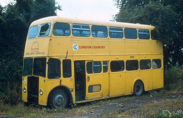 A90 an old London Country training bus