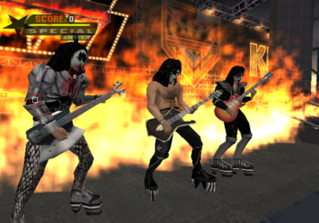 KISS with my guitars low rez PS2   I made the guitar models