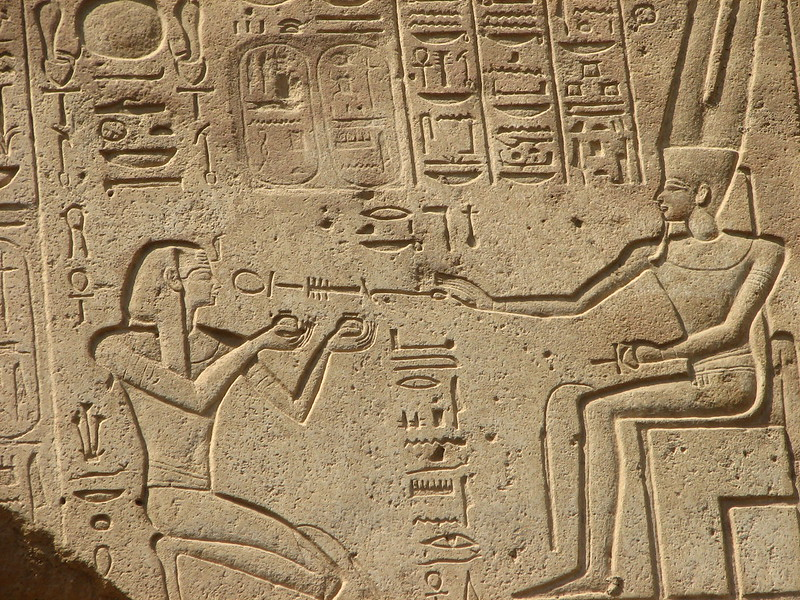 Carved walls in Temple of Karnak