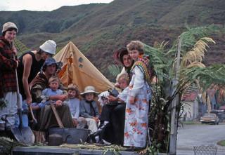 Gold mining float, Inangahua County Centenary, 1976