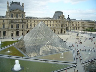 The glass pyramid taken from inside the Louvre | by claytron