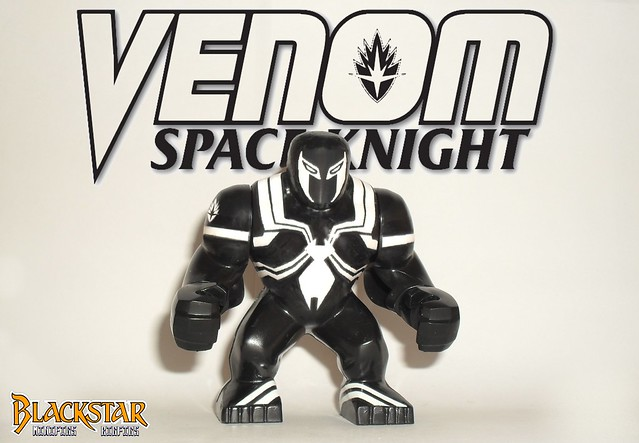 Space Knight Venom ( Lego , Marvel , Bigfig )