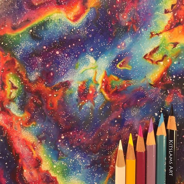 Nebula Pencilcolor Drawing   Kitslams Art