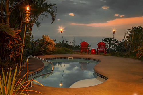 pool swim swimming sunset sunrise beautiful art reflection tropical tropics captincook kona hawaii view tiki night elevation oahu maui kauai visit color colors vacation pacific ocean usa