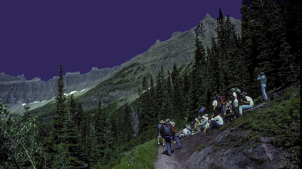 Group Hike on Iceberg Lake Trail | Many Glacier Area, Glacie