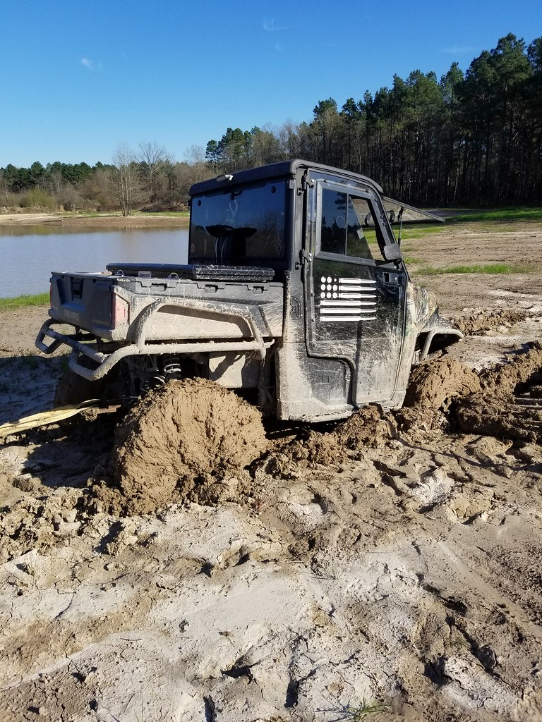 Get your Polaris Tansmissions built right. Gear reduction, Dual reverse chains, turf delete, torque plate, HD output shaft and bullgear. No damage in the super thick mud. www.CATVOS.net