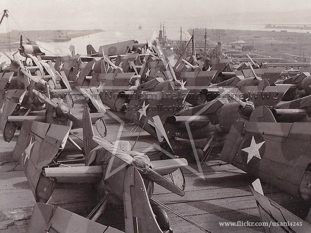 Aircraft on board HMS Fencer, Belfast May 1943