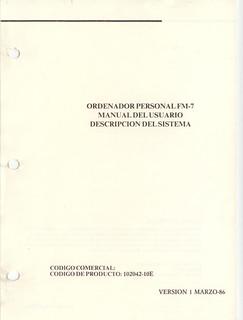 Manual del Usuario Secoinsa FM7 | by Deep Fried Brains