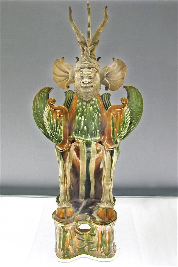 Animal gardien de tombe (Shanghai Museum, Chine)