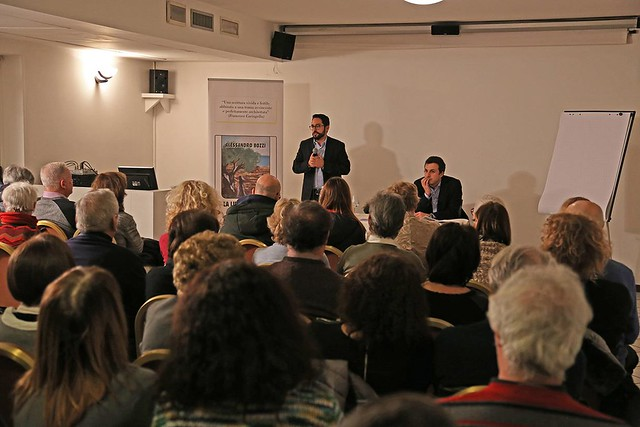 Italy-2018-01-27-Lawyer Presents First Novel at Bergamo Meeting