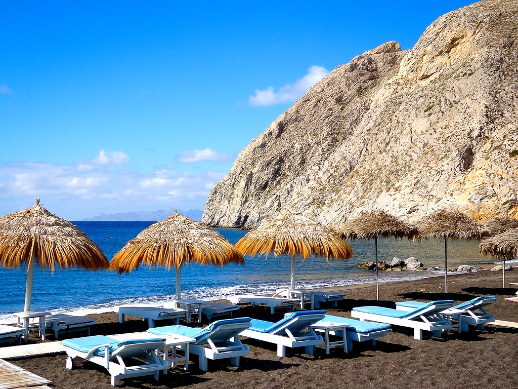 Perissa Beach Santorini Greece Santorini Grecia