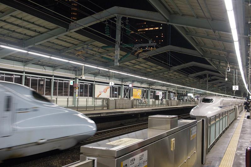 新幹線で帰郷