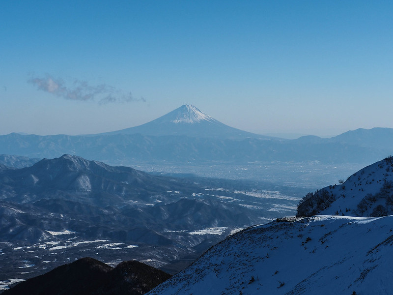 赤岳から富士山