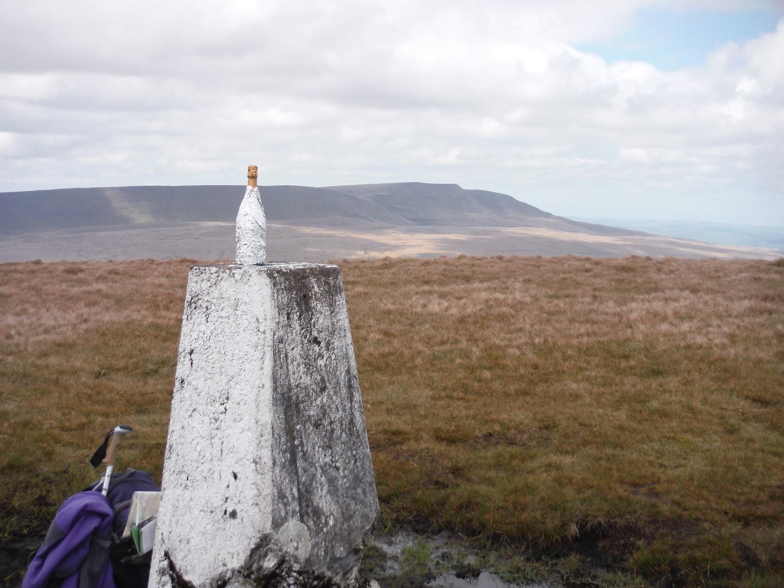 Someone's Birthday, Trig Point on Fan Gyhirych SWC Walk 307 - Fforest Fawr Traverse (Craig y Nos to Llwyn-y-celyn)