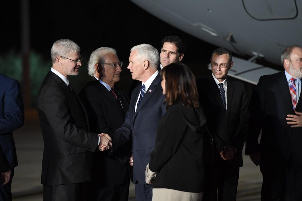 VP Pence arrival