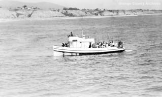 Silver Spray fishing boat at San Clemente, circa 1950s
