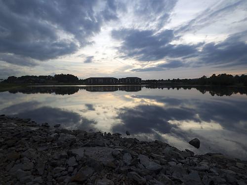 huntsville landscape pond sunset