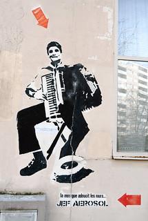 Stencil by Jef Aerosol [Paris 13e]