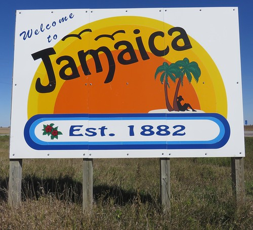 iowa ia citywelcomesigns guthriecounty jamaica northamerica unitedstates us
