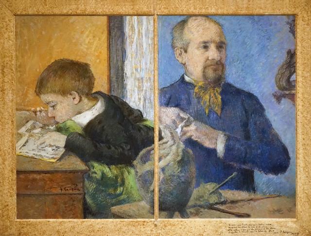 Le sculpteur Aubé et son fils Émile par Paul Gauguin (Petit Palais, Paris)