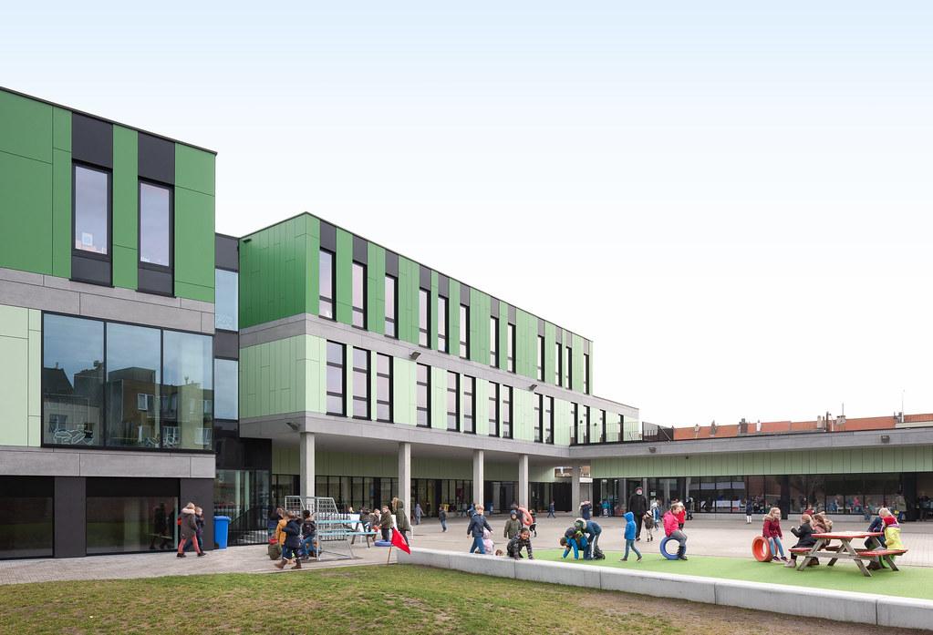 AVDK architecten - Scholen Van Morgen - Artes - School Zuidlaan Blankenberge. Foto © Dennis De Smet