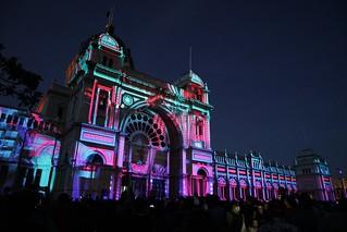 Exhibition Buildings Illuminations 1   by Joe Lewit