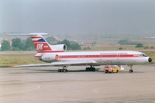 OK-UCF Tu-154 @ Praha 15-09-1991