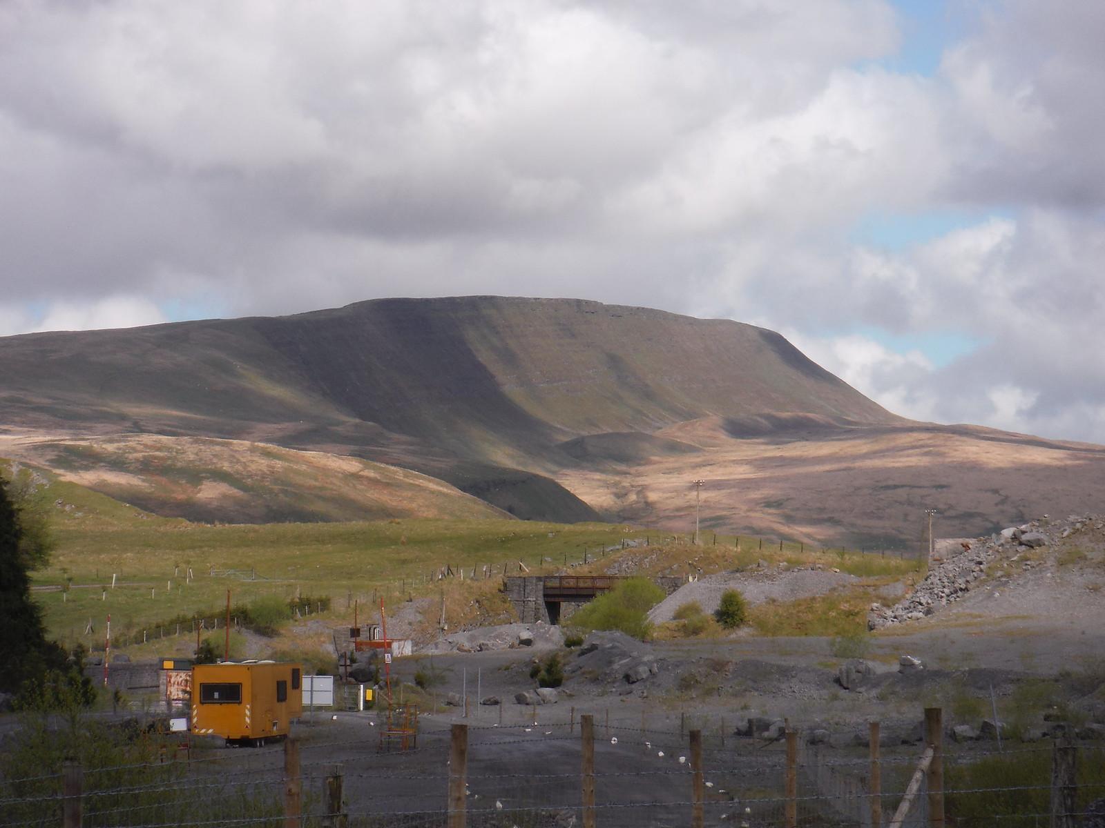 Fan Hir Escarpment, from Penwyllt Quarry SWC Walk 307 - Fforest Fawr Traverse (Craig y Nos to Llwyn-y-celyn)