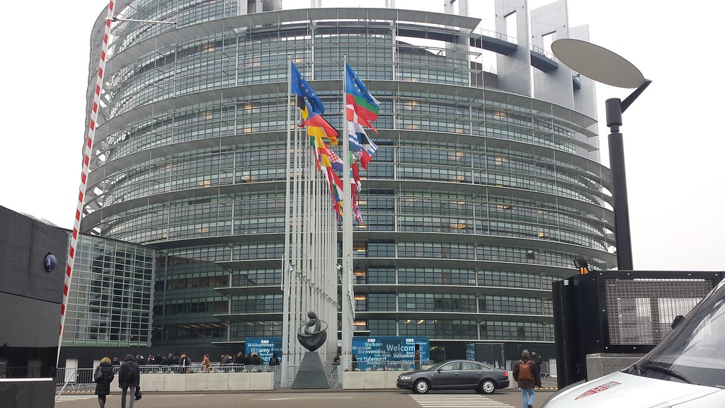 On My Way in to the European Parliament