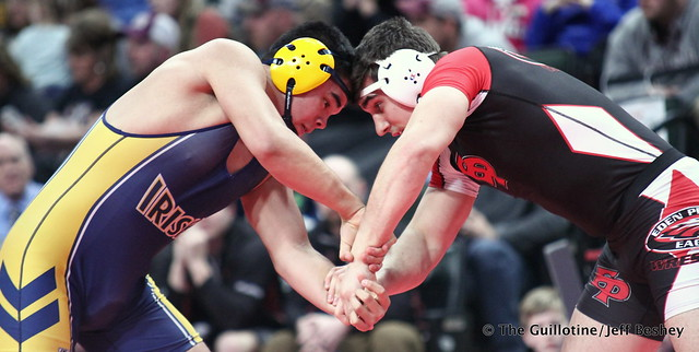 Semifinal - Ezayah Oropeza (Rosemount) 38-6 won by decision over Sam Horn (Eden Prairie) 44-3 (Dec 4-3). 180303AJF0591