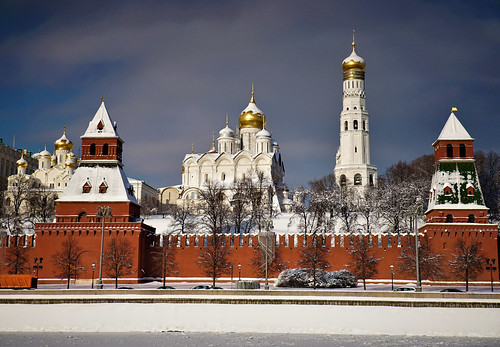 Moscow Kremlin, Russian church, Ivan the Great bell tower, Archangel Cathedral and Annunciation Cathedral | by sergrossov
