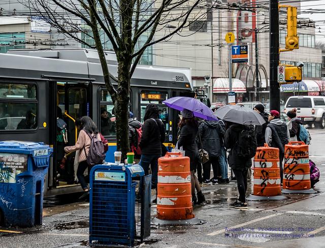 Polite Line-Up for the TransLink 99 B-Line BRT