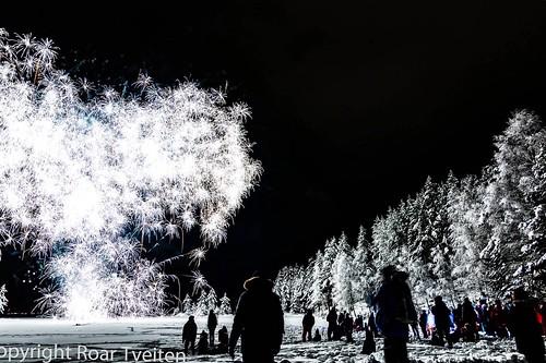 Lighting up the spruceforrest, Norwegian style🔥