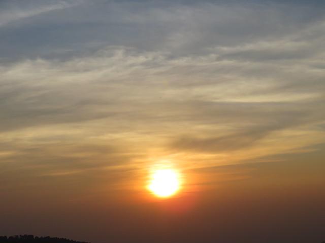 Sunset View From Yoga Ashram Dharamsala (H.P)