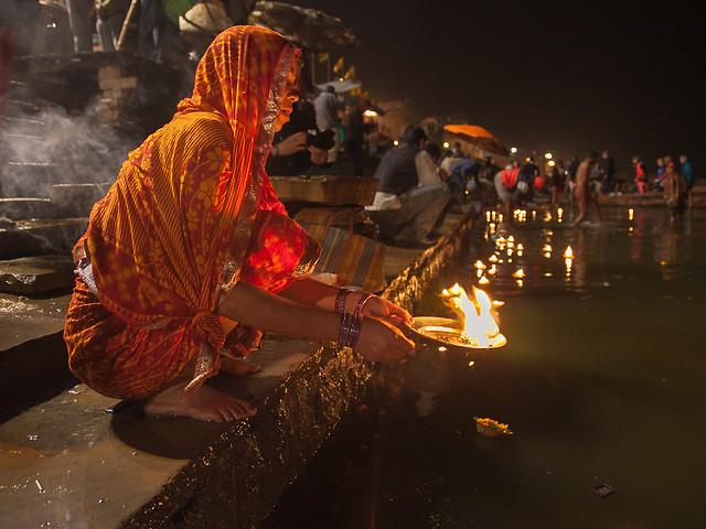 On the Ganges bank in Varanasi