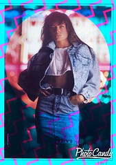80s Women?s Denim wear clothing Advertisement