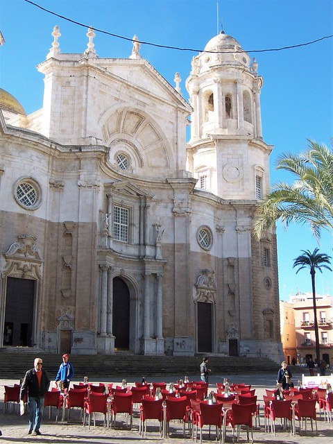 Cadiz cathedral and square