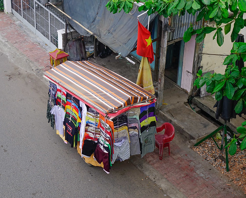 Selling clothes on street | by phuong.sg@gmail.com