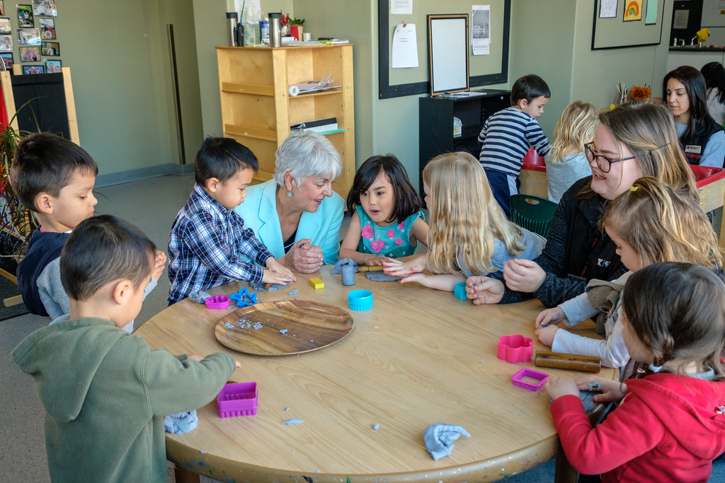 Minister Carole James visits Downtown Victoria YMCA Child …   Flickr