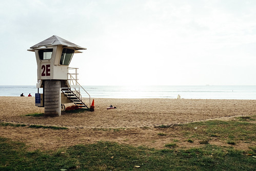 "Image titled ""2E, Lifeguard Tower, Waikiki."""