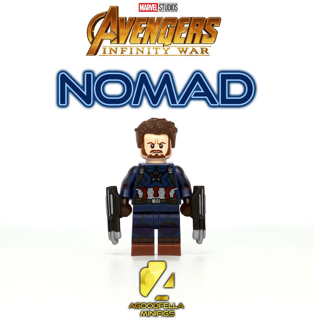 Avengers Infinity Wars Custom Mini Figures Captain America Nomad