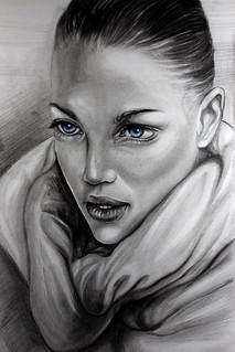 Charcoal Drawing Portrait