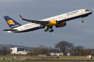 TF-FIS Boeing 757-200 Icelandair Glasgow airport EGPF 06.01-18   by rjonsen