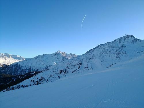 瑟尔登 sölden austria 奥地利 ski snowboard 滑雪 滑板 piste sunset 日落