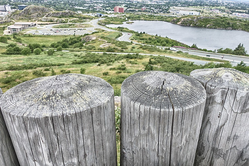 view stjohns newdfoundlandandlabrador fence fencefriday green grass water gabih lookout overlook landscape woodenposts