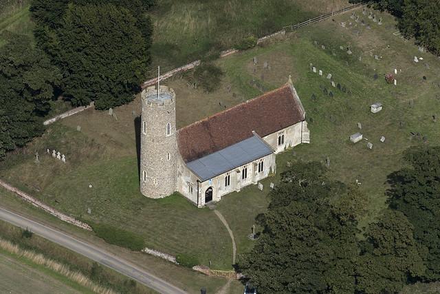 Frostenden All Saints Church - Suffolk UK aerial