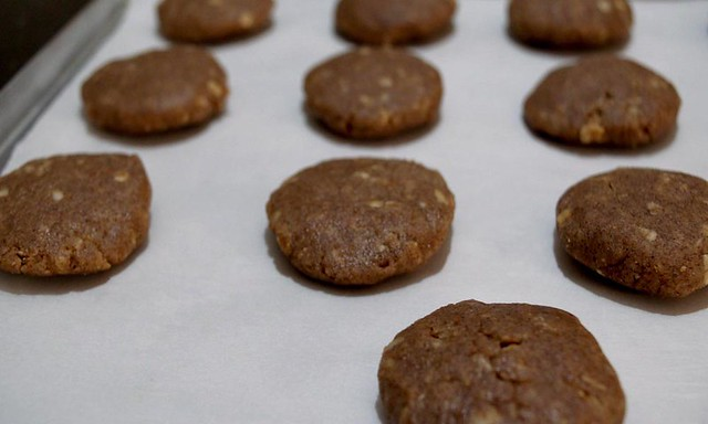 Ragi Cookies before baking