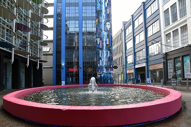 Fountain at The Custard Factory, Birmingham.