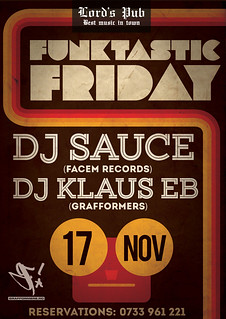 20171117-poster-funktastic-friday-with-dj-klaus-eb-lords_pub-oradea-romania | by DJ Klaus EB